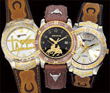 western watches by montana silversmiths men s leather watches