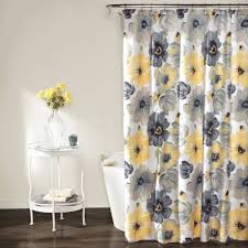 Lush Decor Lake Como Curtains Blue And Gray Shower Curtains Free Image