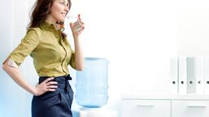 hot office pic. A Women Drinking Water In Hot Office Pic