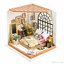dollhouse miniature furniture. Diy Dollhouse Miniature Handmade Furniture Christmas Gift Birthday Present For Boy Girl Bedroom Set Dolls House Kits Barbie From Toyinjc