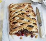 apple cranberry lattice tart