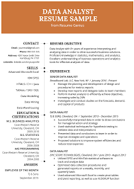 Operations Resume Examples Data Analyst Resume Example Writing Guide Resume Genius