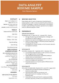 Business Analyst Modern Resume Template Data Analyst Resume Example Writing Guide Resume Genius