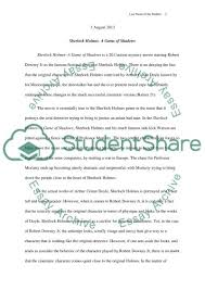 sherlock holmes a game of shadows essay example topics and well  sherlock holmes a game of shadows essay example