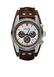 fossil® watches for men belk fossil® leather cuff watch