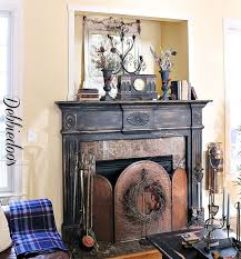 distressed fireplace mantel painting the fireplace surround debbiedoos black fireplace manteistressed antique fireplace mantels for