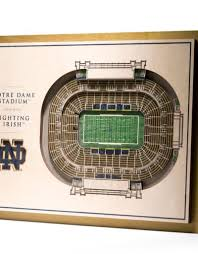 You The Fan Notre Dame Fighting Irish 5 Layer 3d Stadium Wall Art