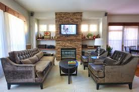 mounting tv on stone fireplace sumptuous mantel shelves in family room contemporary with stone fireplace and mounting tv on stone fireplace