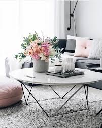 smart round marble top coffee table white marble coffee table with flowers and grey