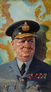 winston churchill once wrote a prescient essay about alien life painting of churchill in raf uniform