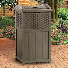 decorative outdoor garbage cans decorative outdoor trash can shocking resin trash receptacle mocha brown of decorative