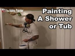 how to paint a shower or bathtub