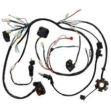 gy6 wiring harness wire harness loom cdi rectifier key ignition coil magneto stator for gy6 atv zu