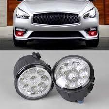 2009 Infiniti G37 Daytime Running Lights Citall 261508993b 261508992b 2pcs Right Left Fog Lamp Light 9 Led Daytime Running Light For Nissan Versa Murano Infiniti M56 Q60