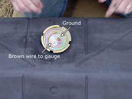 diy fuel tank restoration step 7 fuel sender wiring ground