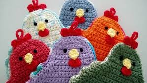 Crochet Potholder Patterns Simple Free Pattern] Adorable Little Chicken Potholder To Brighten Up Your