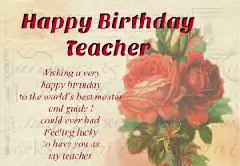 Teachers Birthday Card Birthday Cards For Teacher Happy Birthday Teacher Happy