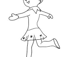 Elf On The Shelf Coloring Pages Printable Elf Coloring Page Elf On