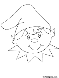 Elf On The Shelf Printable Coloring Pages At Getdrawingscom Free