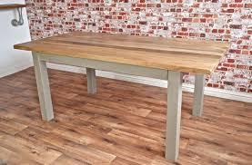 chunky hardwood rustic dining table six seater oak farmhouse table