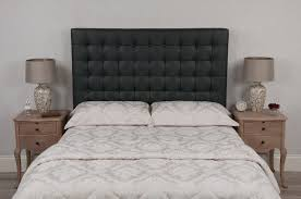 grey black crystal barcelona tufted oned real genuine leather headboard