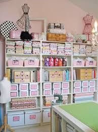 boutique inspired sewing studio sewing room organization ideas