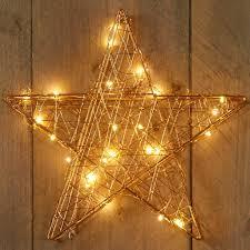 Led Stern Aus Metalldraht 25 Led Timer 30cm Weihnachten Deko Goldfarben 241080