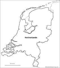 Outline Map Research Activity 1 Netherlands Enchantedlearning Com