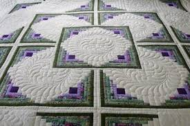Amish Handmade and Patchwork Quilts for Sale | Amish Spirit & Amish Handmade Quilt Log Cabin in the Round Pattern Adamdwight.com
