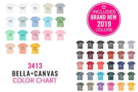Bella Canvas 3413 Mockup Color Chart