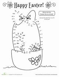 Happy Easter Dot To Dot School Teaching Math Easter Easter
