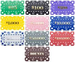 25 Rectangular Denominated Poker Chip Plaques Choose Values