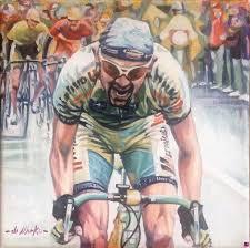 venduto quadro - omaggio a Marco Pantani - Di Marko