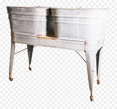 sink galvanization bathtub bathroom metal practical wooden tub