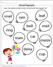 Handwriting worksheet maker make custom handwriting & phonics worksheets type student name, small sentence or paragraph and watch a beautiful dot trace or hollow letter. Vowel Digraphs Worksheets