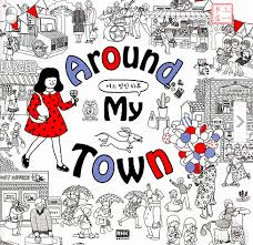 around my town art coloring book for children kids stress reliver graffiti painting drawing books