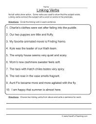 Verbs Worksheet 1
