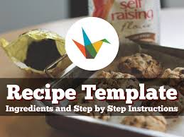 Recipe Template By Reusable Template