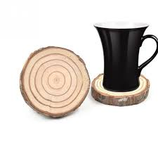 Creatively Bar Decorative Cups Pad Natural Wooden Slice Cup Mat Coaster Tea  Coffee Mug Paddings Drinks