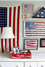 american flag gallery wall