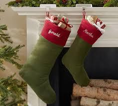 red velvet christmas stockings.  Red Basic Velvet Stockings  Green With Red Cuff For Christmas I