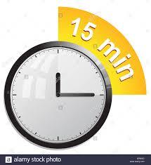Start 15 Minute Timer 15 Minutes Clock Stock Photos 15 Minutes Clock Stock