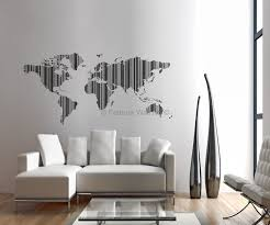 ... Stickers Removable Wall Art Photo White Fabric World Map Lines Strips  Pillow Vase Glass Table Window ...