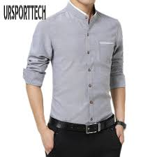 dress shirt size plus size m 5xl cotton men shirt new 2017 stand collar casual male