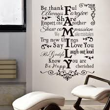 Small Picture Family Wall Sticker Quotes Designing Home Inspiration New Lovely