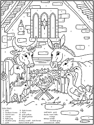 Free shipping on orders over 60.50€! Color By Number 48 Nativity Coloring Pages Christmas Coloring Pages Christian Coloring