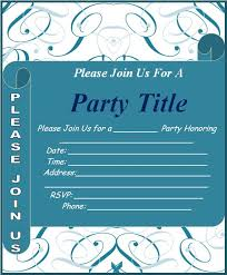 Microsoft Word Party Invitation Template Invite Template For Word