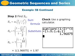 geometric sequence calculator