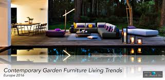 outdoor furniture trends. Contemporary Garden Furniture Living Trends From Europe For 2016 Outdoor N
