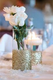 gold glitter glass vases centerpiece for weddings large uk
